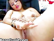 Busty Latina Toying Her Pussy And Squirting