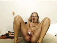 Hairy Blonde Solo Toying Action
