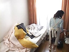 Mature Japanese Sucks And Plays With Young Cock