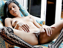 Gorgeous Ethnic Teen Leila Strips And Plays With Her Delicious S