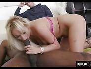 Blonde Wife Black Cock Creampie