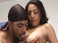 Spectacular Black Teen Babe Rides On A Big Fat Black Dick
