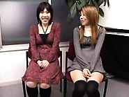 Delightful Japanese Babes Reveal Their Handjob And Blowjob