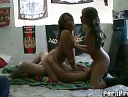 Two Teen Girls In Stockings Get Drilled Hard By A Lucky College