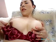 Busty Jap Milf Enjoys Fingering Herself While Her Husband Mastur