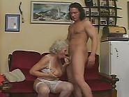 The Old Whore He Is Screwing Likes Getting Fucked In The Living