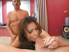 Aroused Pervert Watching Sizzling Milf Nataly Rosa Getting Doubl