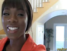 Hot Black Real Estate Agent Pleases Her Potential Clien