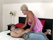Ruined Grey-Haired Granny Welcomes Tongue Fuck In Pose 69