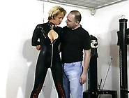 Busty Amateur Blonde Tied For Her Man's Pleasure