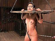 Latina Babe Leah Has A Yoke Bar On Her Neck