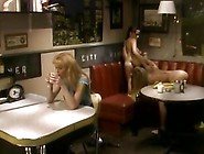 Licking Bodies And Juices In Dike Scene In A Diner