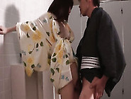 My Japanese Wife Moans Sweetly While I Fuck Her Pussy In Standin