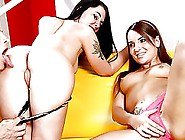 Sizzling Hot Brunette Mom And Daughter Suck And Fuck!
