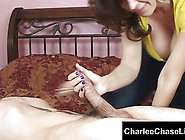 Cum Slut Charlee Chase Sucks Off A Younger Guys Big Cock!