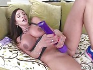 Ariella Ferrera Vibrates Her Clit While She Is Slammed In Her Bo
