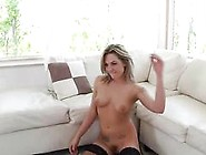 Blonde Babe Has A Good Time As She Sucks A Dick