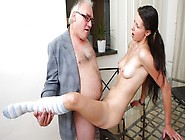 Simona's First Time Oral Sex On Her Tricky Old Teacher