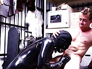 Hot Stud Gets His Cock Sucked By A Gimp