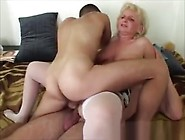 Old Slutty Milf Takes Dp In Mmf