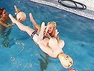 Underwater Play With A Pair Of Naked Teen Lesbians