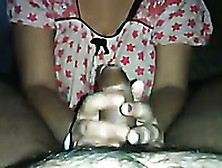 Sexy Young Wife Giving Awesome Handjob In Amateur Clip
