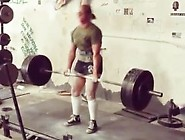 Fbb Lifting Weights In Knee Highs Part 2
