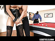 Mega Bosomy Black Sweetie Pleases Her Black Man And His White Bu