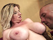 Big Tit Granny Titty Fucks Him Before He Jams It In Her Hungry C