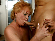 Sex-Starved Granny Gives Hot Blowjob To Her Horny Lover