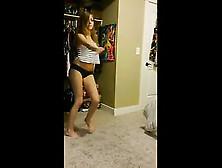Blonde Teen Whore Undies Tease Butt Cellphone That Is Great