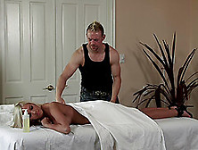 Bibi Jones Gets A Massage Before Sucking And Riding Cock