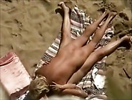 Outdoor Sex On Beach Filmed Through From Top By A Voyeur Cam