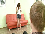 Great Sex On The Big Orange Sofa