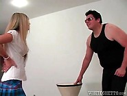Schoolgirl Knees Him In The Balls Over And Over