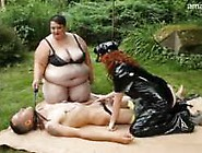 Sbbw And Redhead Dominate Skinny Guy