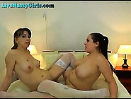 Big Titty Lesbians Play With Strapon