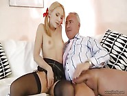 Gentle Teen Banged By Step Father