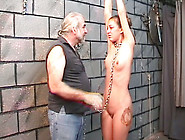 Submissive Tattooed Girl Getting Whipped Hard In Kinky Bondage V