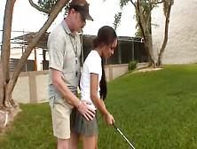 Golf Coach Fucks The Petite Latina Teen In The Locker Room