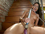 Amazing Nikki Daniels Gets Her Juicy Pussy Toyed By A Machine