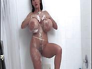 Casey Jogging Watching Her Big Tits And Masturbating