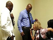 Nikki Sexx Has Her 2 Big Black Cock Employees Fuck Her To Keep T