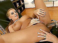 Amazingly Hot Blonde Girls Fuck In The Office On A Couch