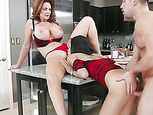 Cute Slender Hottie And Her Heavy Chested Mother Deauxma And Gul