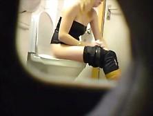 Hidden Cam Catches Blonde Teen On The Toilet