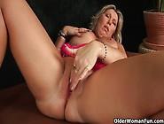 Sweet Matured Mom Gitte With Her Heavy Boobs Fucks Herself