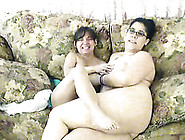 Big Fat Nerdy Lesbian Eats Her Petite Gf's Wet Pussy In 69 Pose