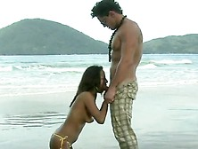 Sweet Claudia Bella Has Anal Bumped Roughly Onto The Sands