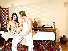 A Male Masseuse Rubs Her Down,  Then Drives His Cock Deep Inside